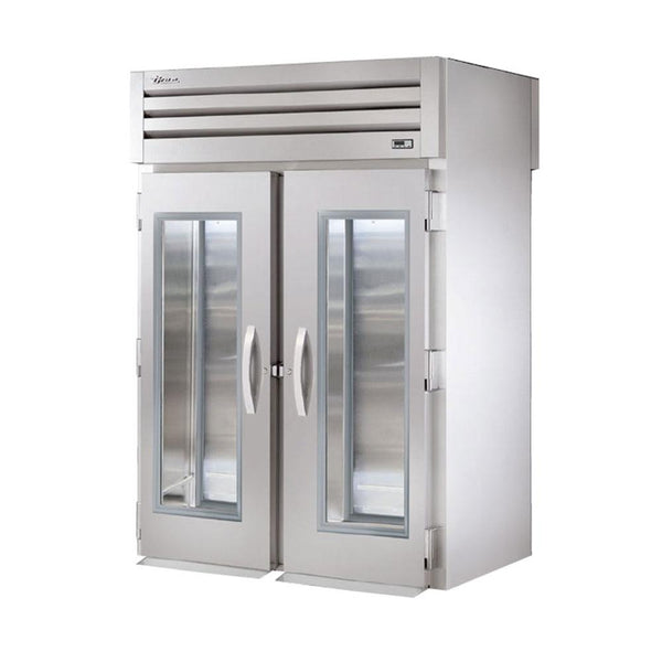 "True STG2RRT-2G-2S 68"" Roll-Thru Glass Front / Solid Rear Swing Door Refrigerator"