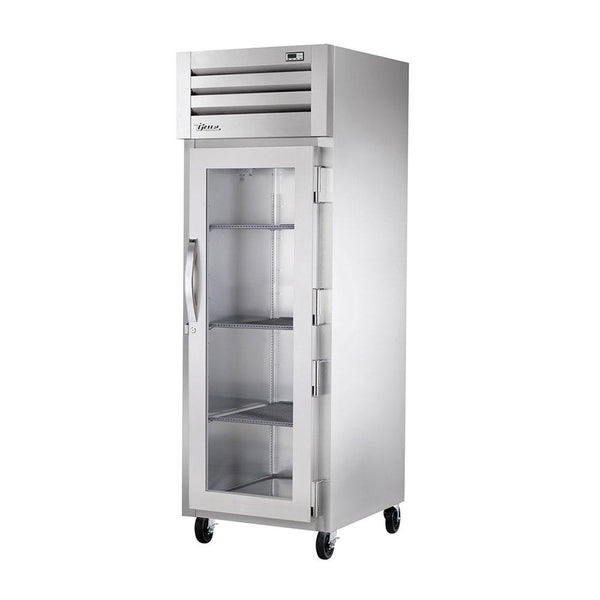 "True STR1F-1G-HC 27.5"" Spec Series Reach-In Stainless Steel Glass Swing Door Freezer"