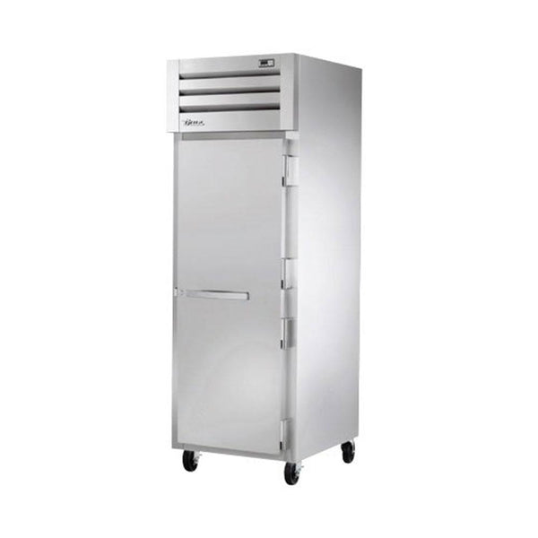 "True STR1F-1S-HC 27.5"" Reach-In Stainless Steel Solid Swing Door Freezer"