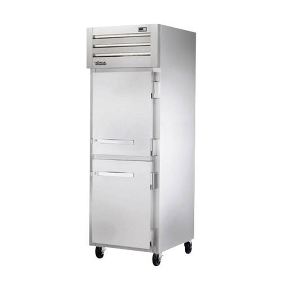 "True STR1F-2HS-HC 27.5"" Reach-In Solid Half Swing Door Freezer"