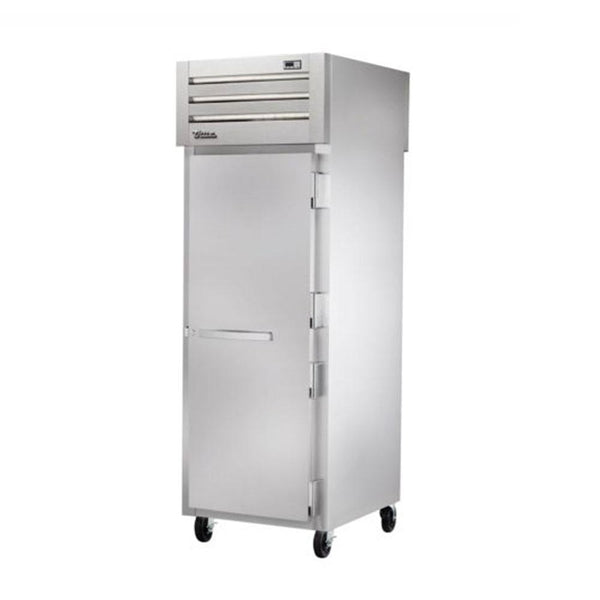 "True STR1FPT-1S-1S 27.5"" Pass-Thru Solid Front / Solid Rear Swing Door Freezer"