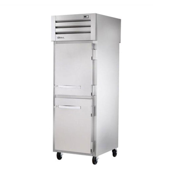 "True STR1FPT-2HS-2HS 27.5"" Pass-Thru Solid Half Front / Solid Half Rear Swing Door Freezer"