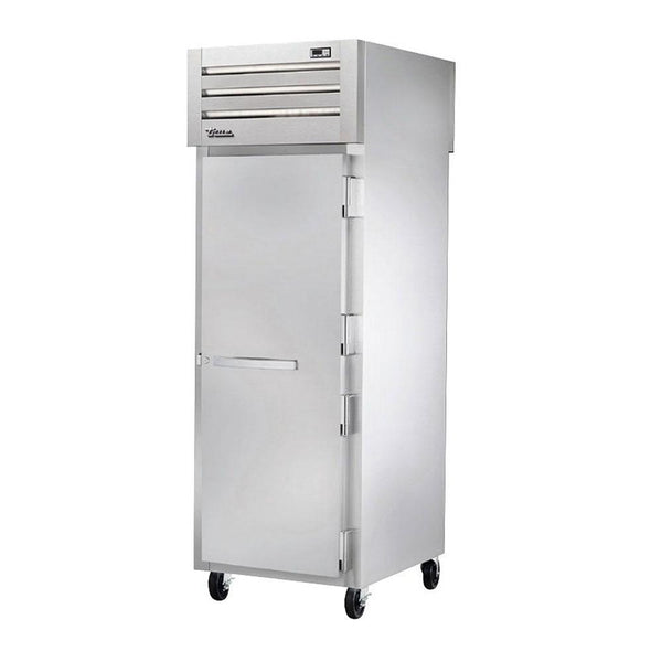 True STR1HPT-1S-1S Pass-Thru Solid Front / Solid Rear Swing Door Heating and Holding Cabinet - 1500W