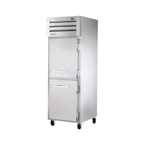 "True STR1R-2HS-HC 27.5"" Reach-In Solid Half Swing Door Refrigerator"