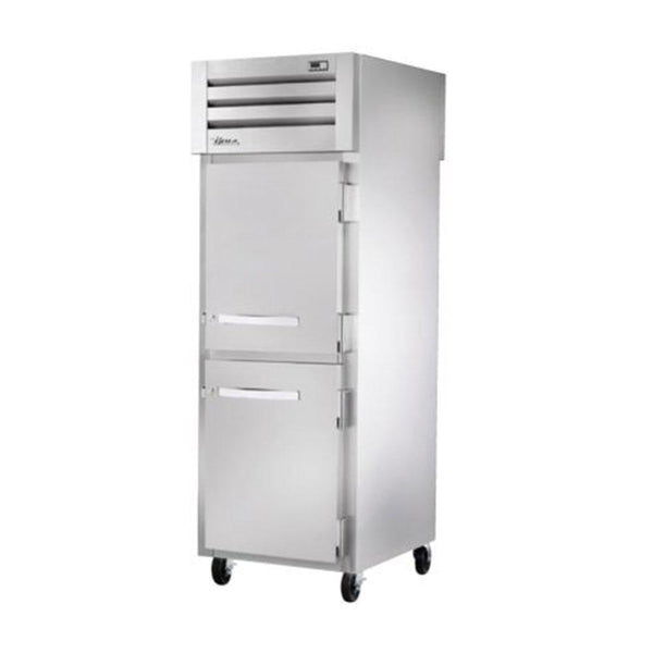 "True STR1RPT-2HS-1S-HC 27.5"" Pass-Thru Solid Half Front / Solid Rear Swing Door Refrigerator"
