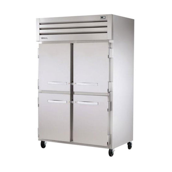 "True STR2F-4HS-HC 52"" Reach-In Solid Half Swing Door Freezer"