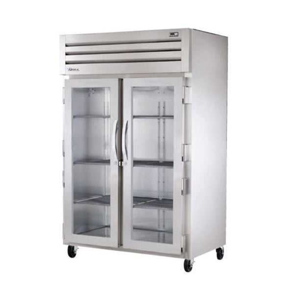 "True STR2H-2G 52"" Reach-In Glass Swing Door Cabinet - 3000W"