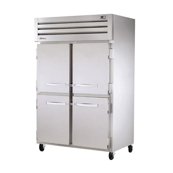 "True STR2H-4HS 52"" Reach-In Half Solid Swing Door Heating and Holding Cabinet - 3000W"
