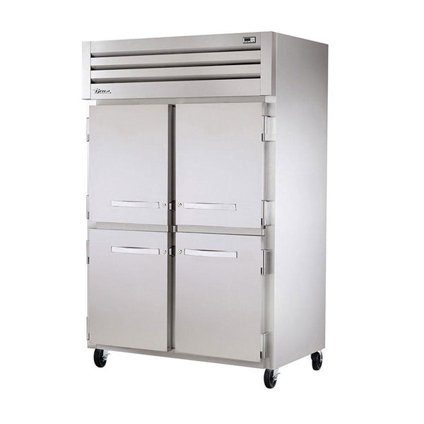 "True STR2HRT-2S-2S 68"" Roll-Thru Solid Swing Door Heating and Holding Cabinet - 4000W"