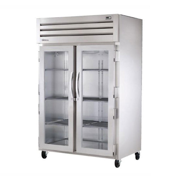 "True STR2R-2G-HC 52"" Two Section Reach-In Glass Swing Door Refrigerator"