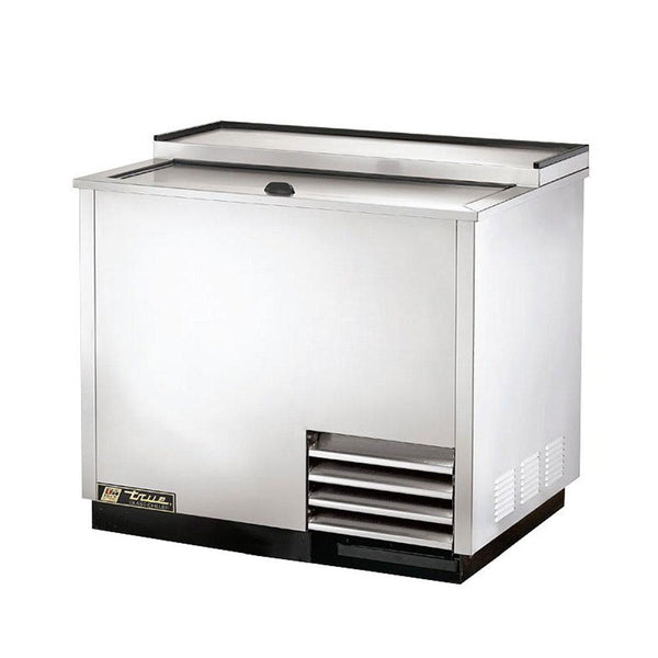 "True T-36-GC-S-HC 36"" Solid Slide Lid Stainless Steel Glass and Plate Chiller/Froster"