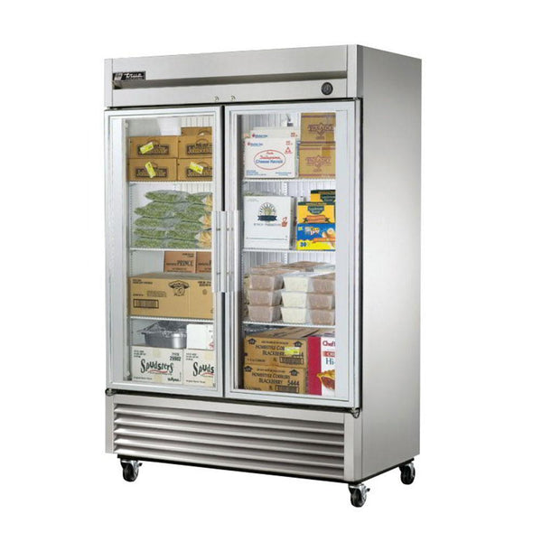 "True T-49FG-HC~FGD01 55"" Reach-In Glass Door Freezer"