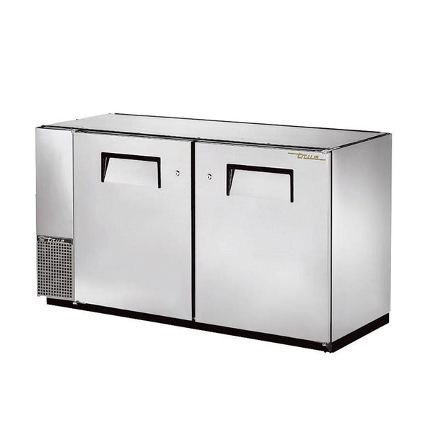 "True TBB-24GAL-60-S-HC 60"" Stainless Steel Solid Door Back Bar Refrigerator With Galvanized Top"