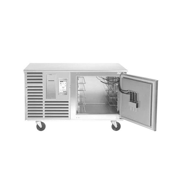 "Traulsen TBC5-54 Spec Line Undercounter 5 Pan Blast Chiller - Right Hinged Door with 6"" Casters and Stainless Steel Back"