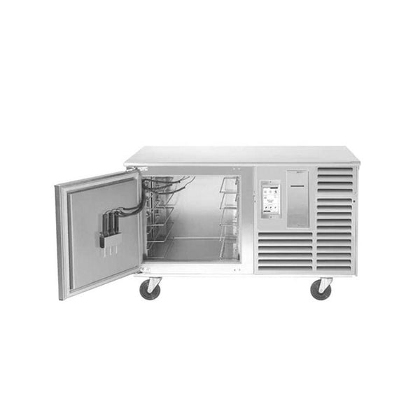 "Traulsen TBC5-58 Spec Line Undercounter 5 Pan Blast Chiller - Left Hinged Door with 6"" Casters and Stainless Steel Back"