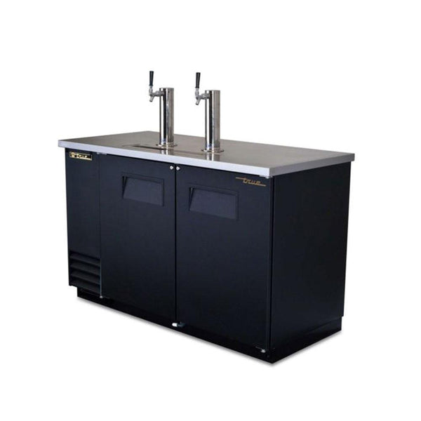 "True TDD-2-HC 59"" Solid Door Direct Draw Beer Dispenser"