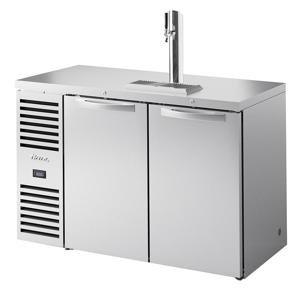 "True TDR52-RISZ1-L-S-SS-1 52"" Stainless Steel Solid Swing Door Back Bar Beer Dispenser"
