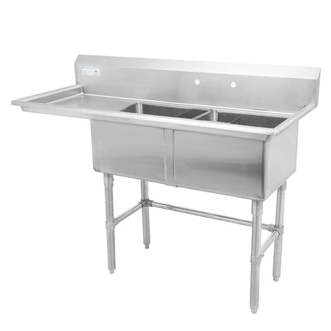 Thorinox TDS-1818-L18 Double sink with left drainboard (18