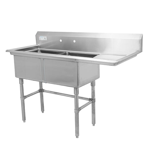 Thorinox TDS-1818-R18 Double sink with right drainboard (18