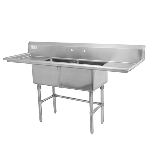 Thorinox TDS-1818-RL18 Double sink with left and right drainboard (18