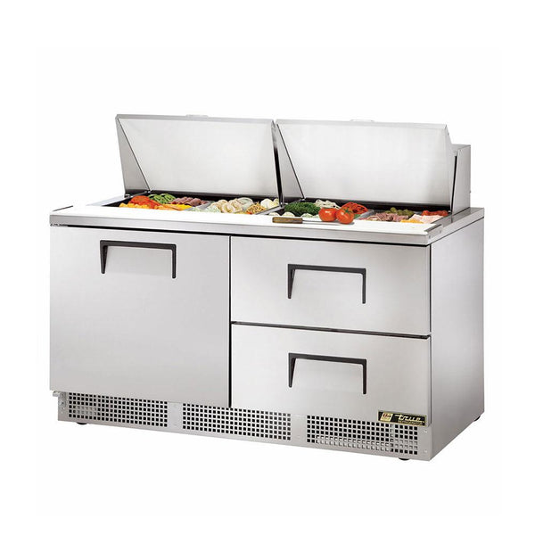 "True TFP-64-24M-D-2 64"" Mega Top 1-Door 2-Drawer Food Prep Table"