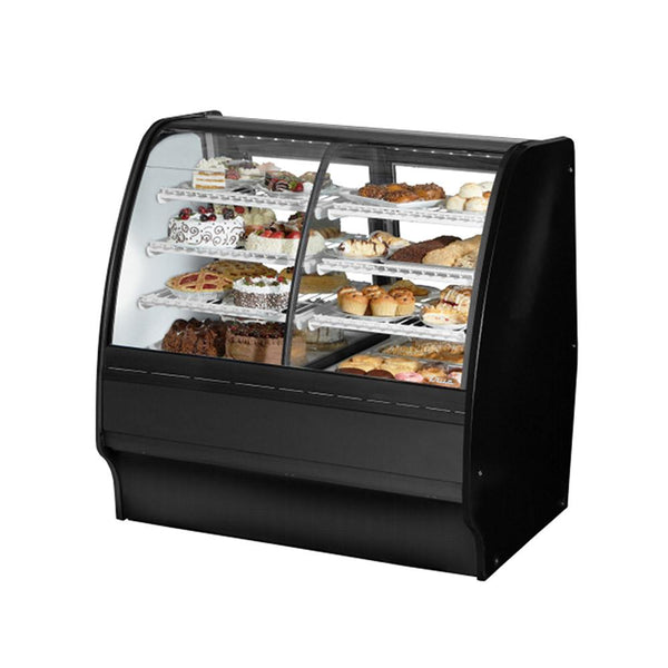 "True TGM-DZ-48-SC/SC-B-W 48"" Combination Refrigerated and Dry Display Case Glass Merchandiser"