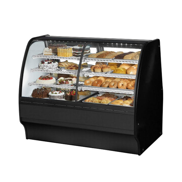 "True TGM-DZ-59-SC/SC-B-W 59"" Combination Refrigerated and Dry Display Case Glass Merchandiser"