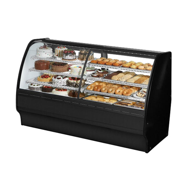 "True TGM-DZ-77-SC/SC-B-W 77"" Combination Refrigerated and Dry Display Case Glass Merchandiser"