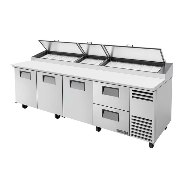 "True TPP-AT-119D-2-HC 119"" 2-Drawer Refrigerated Pizza Prep Table"