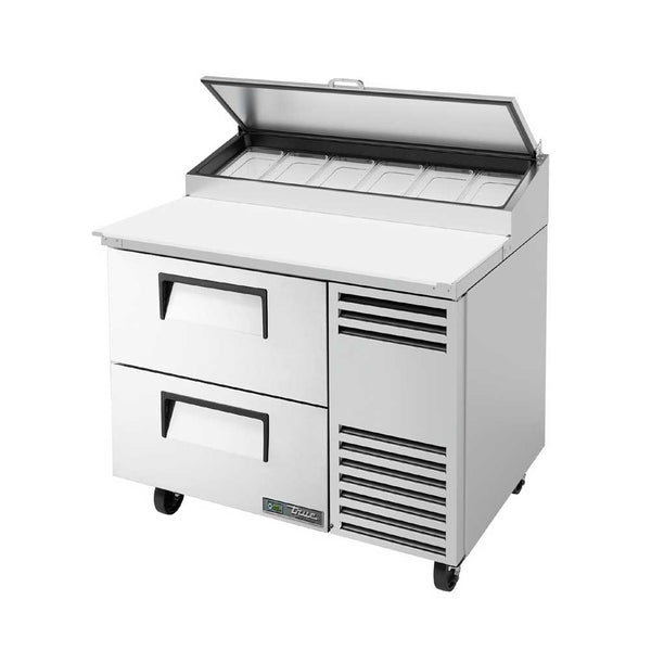 "True TPP-AT-44D-2-HC 44"" 2-Drawer 6 Pan Pizza Prep Table"