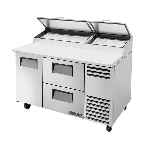 "True TPP-AT-60D-2-HC 60"" 1-Door And 2-Drawer Pizza Prep Table"