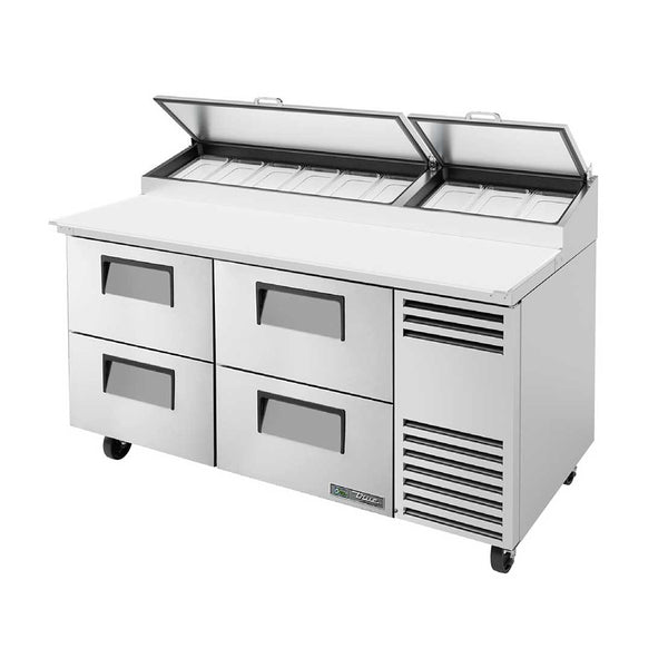 "True TPP-AT-67D-4-HC 67"" 4-Drawer Pizza Prep Table"