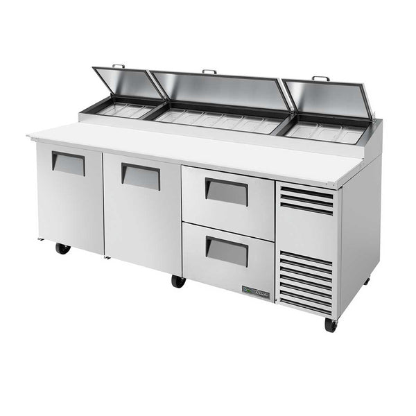 "True TPP-AT-93D-2-HC 93"" 2-Drawer Pizza Prep Table"