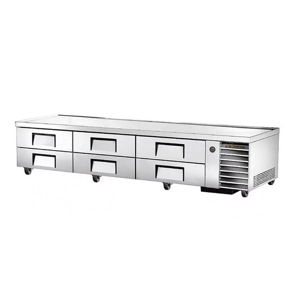 "True TRCB-110 110"" 6-Drawer Refrigerated Chef Base"