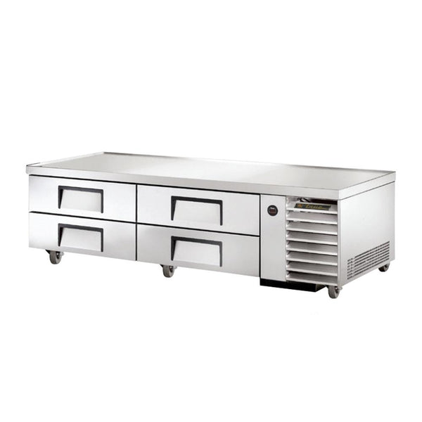 "True TRCB-79 79"" 4-Drawer Refrigerated Chef Base"