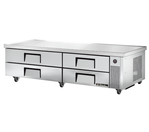 "True TRCB-82-84 84"" 4-Drawer Refrigerated Chef Base"