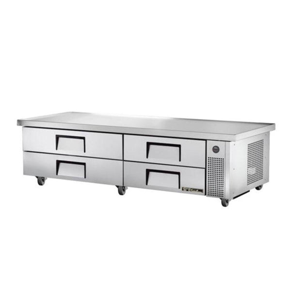 "True TRCB-82-86 86"" 4-Drawer Refrigerated Chef Base"