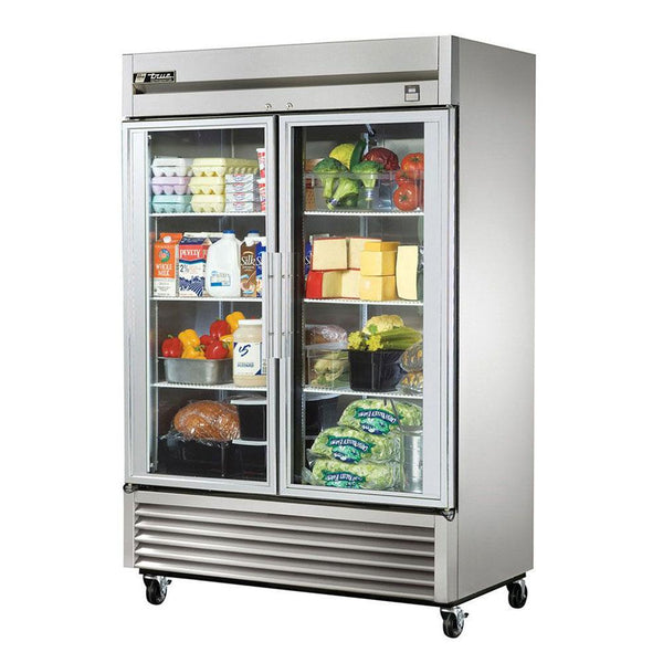 "True TS-49G-HC~FGD01 54"" Reach-In Glass Swing Door Refrigerator"