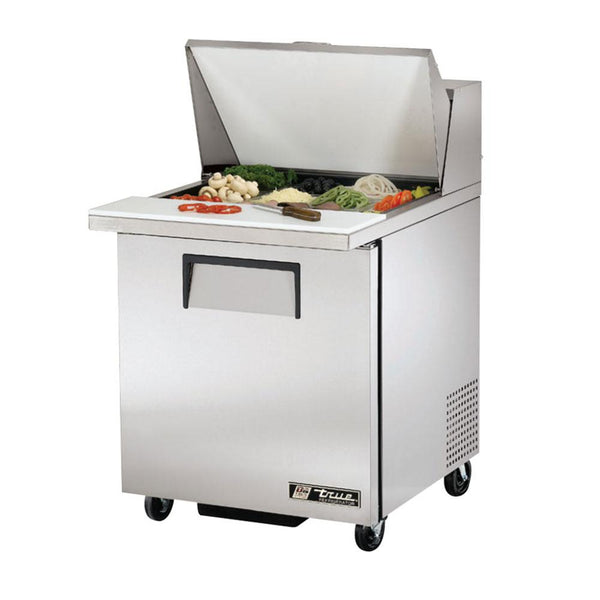 "True TSSU-27-12M-B-HC 27"" 12 Pan Mega Top Salad/Sandwich Prep Table Refrigerator"