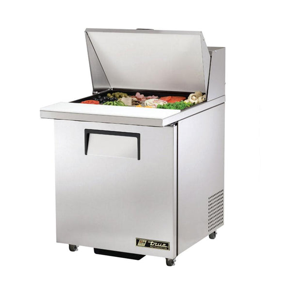 "True TSSU-27-12M-C-ADA-HC 27"" ADA Compliant Mega-Top Solid Door Sandwich Salad Refrigerated Prep Table"