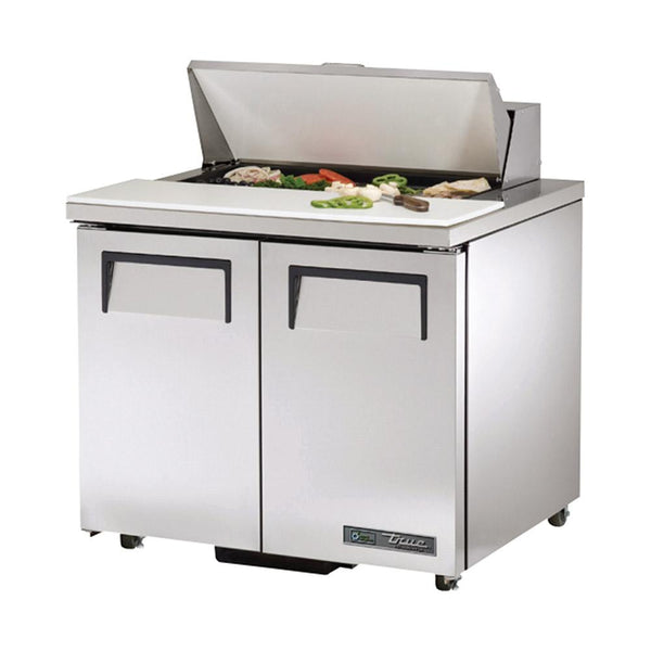 "True TSSU-36-08-ADA-HC 36.38"" ADA Compliant Solid Door Sandwich/Salad Refrigerated Prep Table"