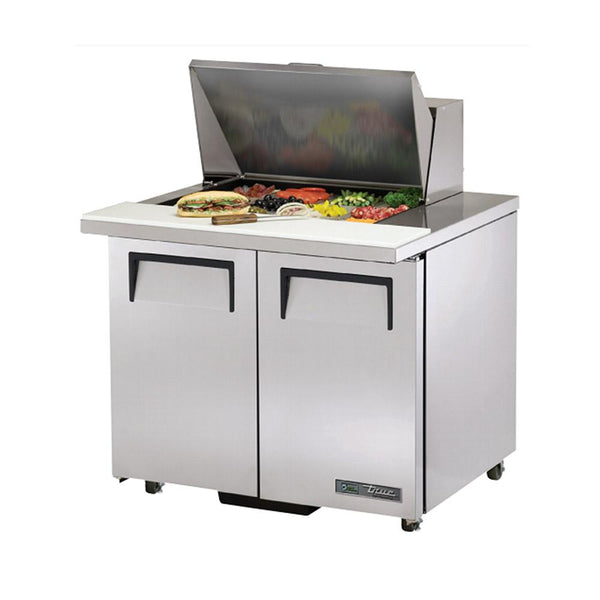 "True TSSU-36-12M-B-ADA-HC 36"" ADA Compliant Mega-Top Solid Door Sandwich/Salad Refrigerated Table"