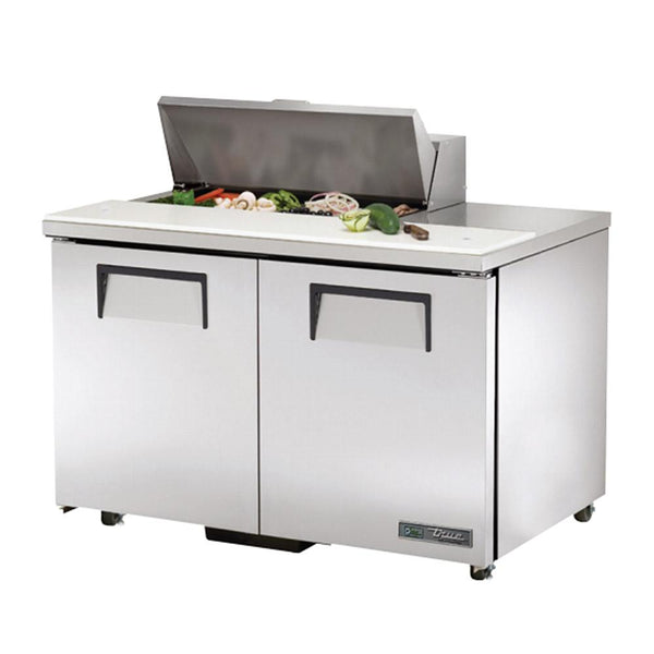 "True TSSU-48-08-ADA-HC 48"" 8-Pan ADA Compliant Solid Door Sandwich/Salad Refrigerated Prep Table"