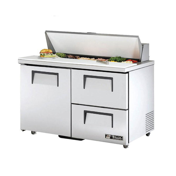 "True TSSU-48-12D-2-ADA-HC 48"" 12-Pan ADA Compliant Drawered Sandwich/Salad Refrigerated Prep Table"