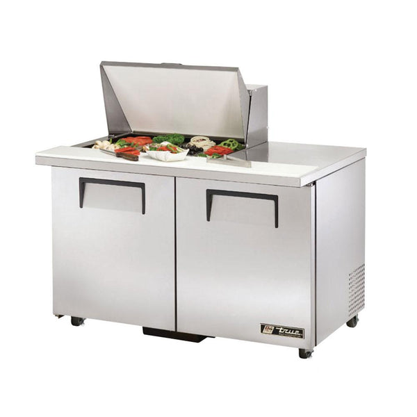 "True TSSU-48-12M-B-ADA-HC 48"" 12-Pan ADA Compliant Mega-Top Solid Door Sandwich/Salad Refrigerated Prep Table"