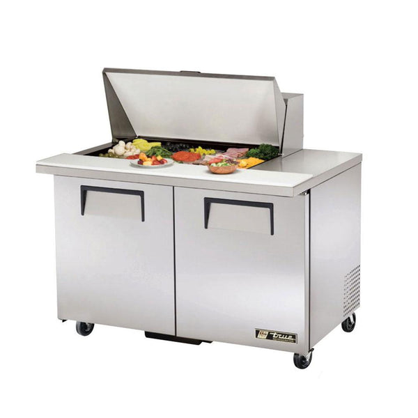 "True TSSU-48-15M-B-ADA-HC 48"" ADA Compliant Mega-Top Solid Door Sandwich/Salad Refrigerated Prep Table"