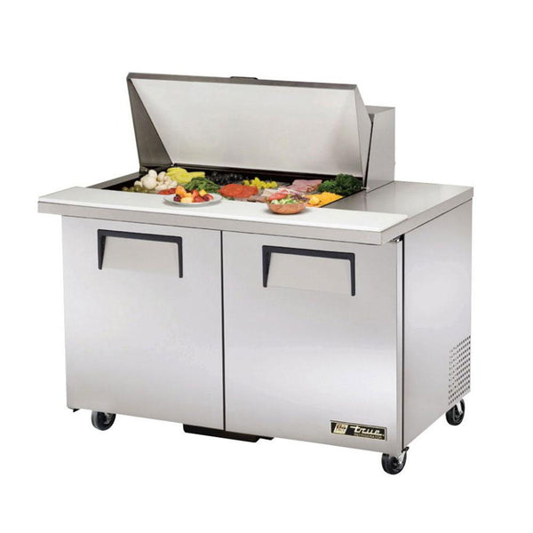 "True TSSU-48-15M-B-HC 48"" Mega-Top Solid Door Sandwich/Salad Refrigerated Prep Table"