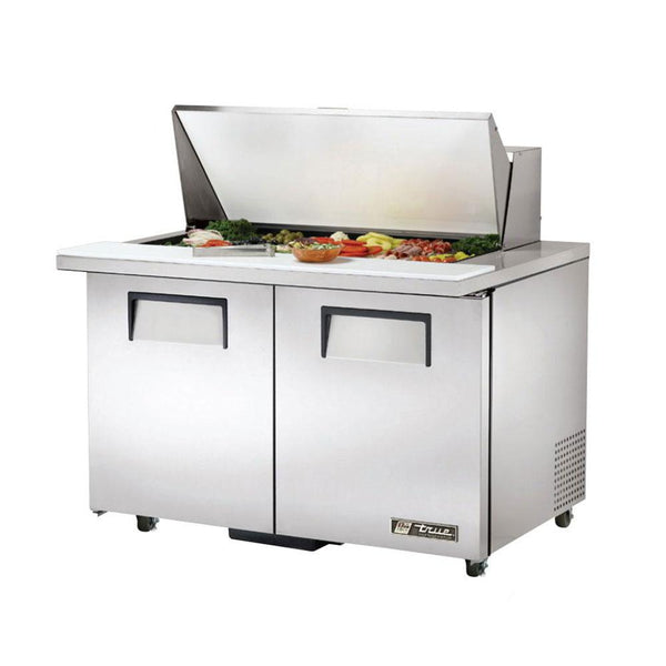 "True TSSU-48-18M-B-ADA-HC 48"" 18-Pan ADA Compliant Mega-Top Solid Door Sandwich/Salad Refrigerated Prep Table"