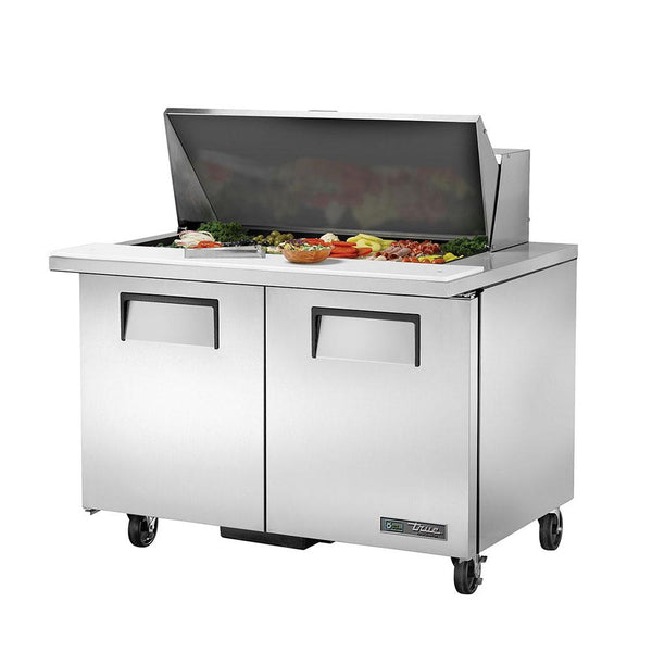 "True TSSU-48-18M-B-HC 48"" 18 Pan Mega Top Salad/Sandwich Prep Table"