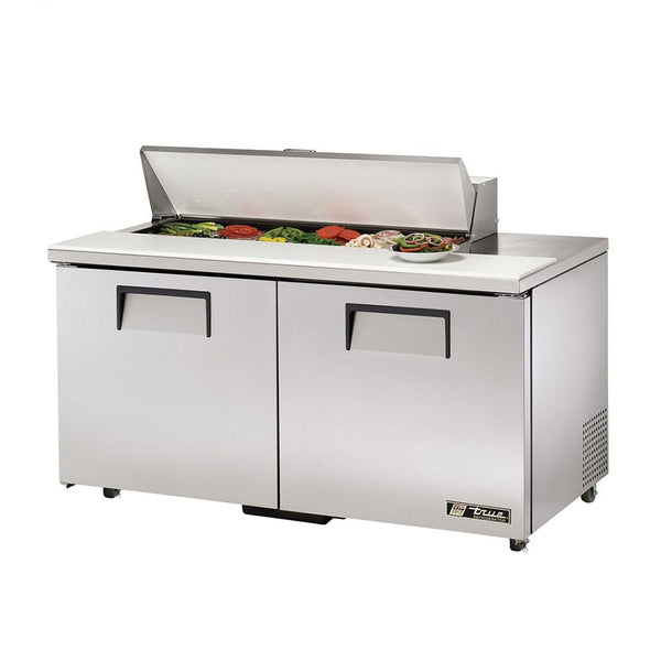 "True TSSU-60-12-ADA-HC 60"" 12-Pan ADA Compliant Solid Door Sandwich/Salad Refrigerated Prep Table"